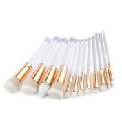 Quartly New 9Pcs Pencil Foundation Eye shadow Makeup Brushes Eyeliner Brush Sets Beauty Tools Kits