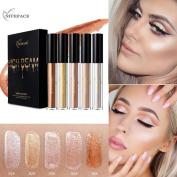 Smoky Eyeshadow,vmree 5 Pcs Concealer Naked Silky Highlight Silkworm Bright Liquid