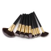 LLguz 10Pcs Eye shadow Makeup Eyeliner Brushes Brush