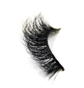 Atop 3D Mink Fur Fake Eyelashes 100% Siberian Mink Fur Hand-made False Lashes 1 Pair Package