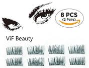 ViF Beauty Magnetic eyelashes, No Glue Magnetic Eyelashes For Natural looking 002