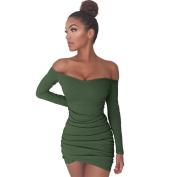 Women Dress, Neartime Women Off Shoulder Bodycon Long Sleeve Evening Party Mini Dress