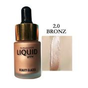 Shouhengda Highlighter Liquid Face Concealer Contour Makeup Bronzers Gold Shimmer Highlighter Liquid