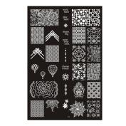 Leewa@ DIY Nail Art Image Stamp Stamping Plates Manicure Template