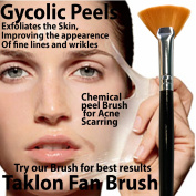 Bellus Fan Brush Taklon 20cm Glycolic Lactic TCA Serum Mask Black