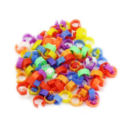 Rockruck 100X Pigeon Dove Leg Bird Chicks Parrot Clip Rings Band Ideal for Small Pets,Pet Supplies