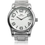 Territory Men's Quartz Round Face Metal Link Fashion Watch, Silver