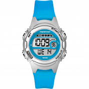 Marathon by Timex Women's Digital Mid-Size Watch, Translucent Blue Resin Strap