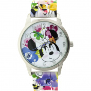 Disney Minnie Women's Analogue Watch Floral Printed Band