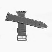 Leather Strap for Apple Watch 38MM - Grey