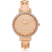 Brinley Co. Women's Rhinestone Adjustable Cuff Fashion Watch, Rose Gold
