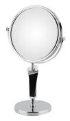 Aptations 80735 5X & 1X Helix Mirror Free Standing44; Chrome & Black