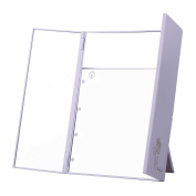 Miss Sweet Lighted Makeup Mirror Trifold Travel Mirror with 5X Magnification & True Image