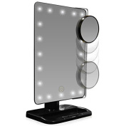 IGIA Makeup Mirror with Lights and Magnification | Touch Sensitive LED Lights and x5 Magnification Additional Mirror