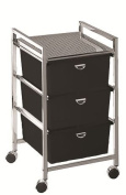 Pibbs D23 Metal Beauty Cart W/ 3 Deep Drawers