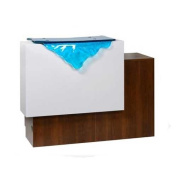 GUL-Paris 120cm Reception Desk With Glass Waterfall Front
