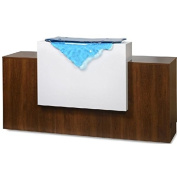 GUL-Paris 180cm Reception Desk Glass Waterfall Front