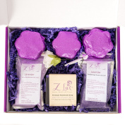 Z Lux Gift Set-0.9kg-Bath Bombs-Bubble-Lavender–Fizzies-Sugar Scrub-Hand Made–women Gift Set-Minerals-Relaxation-Essential Oils-Made in the USA-Natural-Aromatherapy-Birthday Gift-Ultra Lush-Gentle