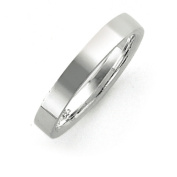 Sterling Silver 4mm Comfort Fit Flat Band Ring - 3.0 Grammes - Size 6