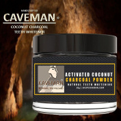 Caveman Natural Organic Whitening Tooth & Gum Powder Activated Coconut Charcoal