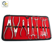 G.S 8PC PROFESSIONAL PIERCING TOOL KIT W/ CASE BEST QUALITY