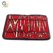 G.S SET 16 PIECES BODY EAR LIP PIERCING FORCEPS PLIERS CLAMPS TOOLS BEST QUALITY
