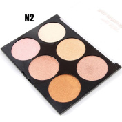 DZT1968 1PC/6 Colours women 33g Professional New Makeup Face Powder Bronzer Highlighter Powder Palette