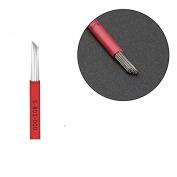 50pc Needles Bevel Round Permanent makeup Microblading Needle 3D Eyebrow Embroidery 19 Fog Round Tattoo Needles