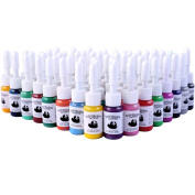 Fashinzone 54 Colours/Bottles Tattoo Ink Pigment Set Kits for Tattoo Professional Beauty Permanent Makesup Paints