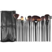 Aisa Makeup Brush Set 24 Pieces Best Professional Makeup Brush Kit Cosmetics Blending Brush Tools Foundation Makeup Brushes Set with Pouch Case