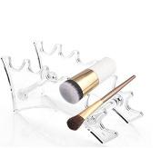 AUCH Make-up Brush Holder, Cosmetics Brush Air Drying Organiser/Hanger/Rack - Clear