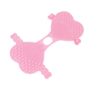 Oksale Heart Shape Cleaning Glove MakeUp Washing Brush Silicone Scrubber Board Cosmetic Clean