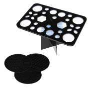 Cosmetic Tool Holder Gawervan 28 Hole Beauty Brushes Organiser,Collapsible Dryer
