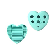Huemi Beauty Heart-Shaped Silicone Glove Makeup Brush Cleaner with Drying Holder