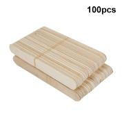 Tinsay Tongue Depressors Disposable Wooden Waxing Stick Wax Strips Spatulas Birch Wood 100PCS