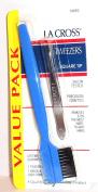 La Cross Square Tip Tweezers with Brow and Lash Comb