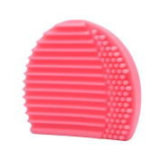 Silicone Egg Cleaning Glove Hollow Out Makeup Washing Brush Drying Racks Scrubber Board Tool Cleaner by Staron