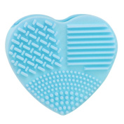 Silicone Egg Cleaning Glove Heart Shape Makeup Washing Brush Scrubber Tool Cleaner by Staron