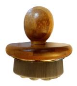 Relaxus Luxurious Bamboo Charcoal Handy Brush with Organic Bamboo Handle