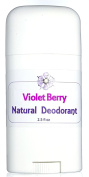 Violet Berry Natural Deodorant - Uniquely Fruity Floral with a Hint of Earthy Greens - Natural Odour Control Blend with Absorbent Clays and Powders