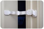 Door Buddy Adjustable Door Latch (Grey 2 Pack + Bonus Adhesives). Simpler Way to Dog Proof Litter Box. No more Pet Cates or Cat Doors. Convenient Cat & Adult Entry. Stop Dog Eating Cat Poop Today!