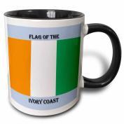 3dRose Flag of Ivory Coast , Two Tone Black Mug, 330ml