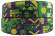 Marvel's The Incredible Hulk 2.5cm Wide Repeat Ribbon Sold in Yard Lots