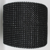 Ben Collection 12cm X 10 Yards 24 Rows Diamond Rhinestone Mesh Warp for Wedding, Party, and Events Decoration