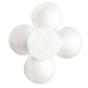 MonkeyJack 5 Pieces 120mm Half Round Polystyrene Styrofoam Foam Ball Christmas Ornaments Solid Spheres for Wedding DIY Modelling Craft
