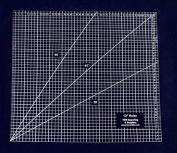 Square Ruler 30cm . - Clear Acrylic - Quilting/Sewing - Template 0.3cm