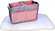 Baby Nappy Bag Caddy Bundle Set Waterproof Changing Pad Liner