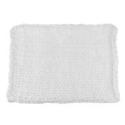 Dovewill Basket Newborn Blanket Stuffer Photography Baby Braid Wool Carpet Kids Prop Wrap - White, as described