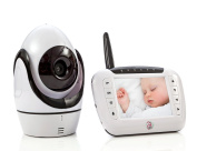 8.9cm LCD Digital Wireless Video Baby Monitor - Wireless surveillance camera with night vision for remote monitoring of your infant.