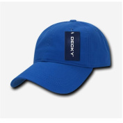 Decky 958-RYL Two Ply Washed Polo Caps - Royal